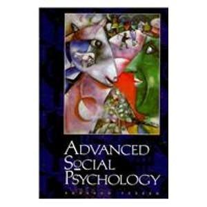9780070292901: Advanced Social Psychology