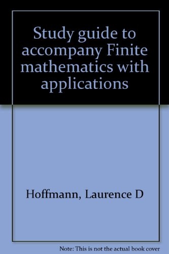9780070293120: Study guide to accompany Finite mathematics with applications