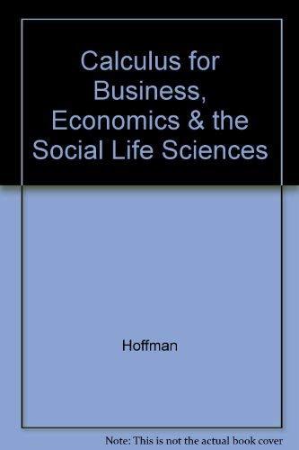 9780070293731: Calculus for Business, Economics & the Social Life Sciences