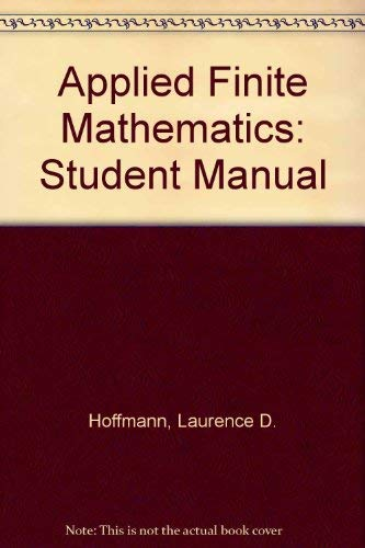 9780070293762: Applied Finite Mathematics: Student Manual