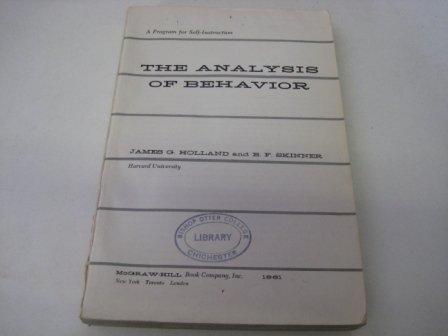 9780070295650: The Analysis of Behavior: A Program for Self-Instruction