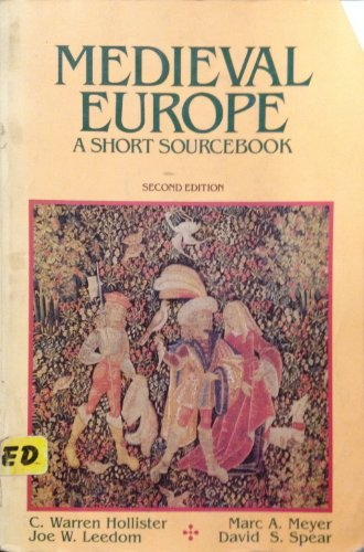 9780070296176: Medieval Europe: A Short Sourcebook