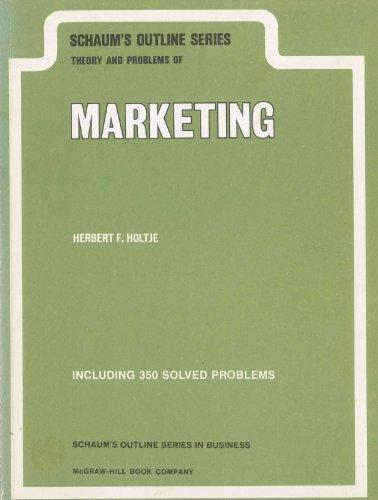 Marketing (Schaum's Outlines): Holtje, Herbert