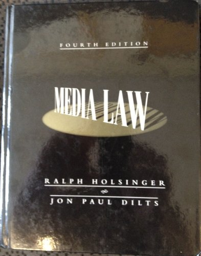 9780070297104: Media Law (McGraw-Hill Series in Mass Communication)