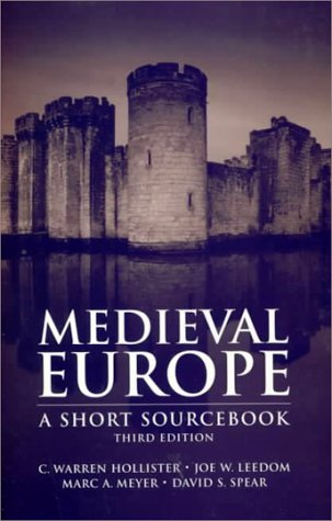 9780070297241: Medieval Europe: A Short Source Book