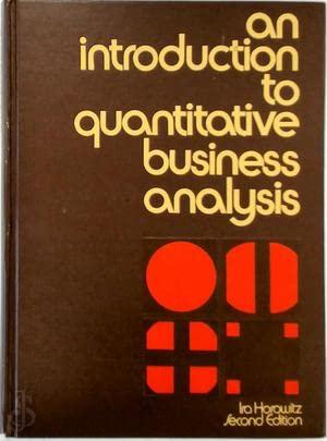 9780070303980: Introduction to Quantitative Business Analysis