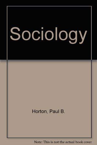 9780070304307: Sociology