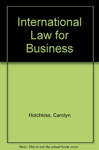 9780070304956: International Law for Business