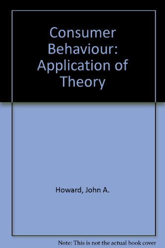 9780070305205: Consumer Behaviour: Application of Theory (McGraw-Hill series in marketing)