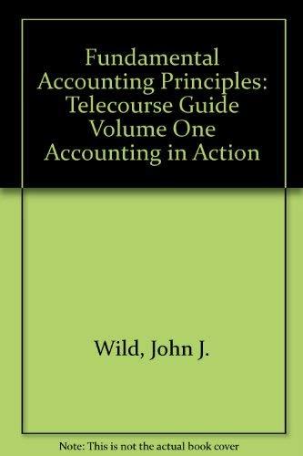 Principles of Accounting: John J. Wild;