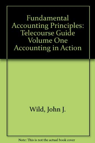 9780070305861: Telecourse Guide for Accounting in Action, Volume 1
