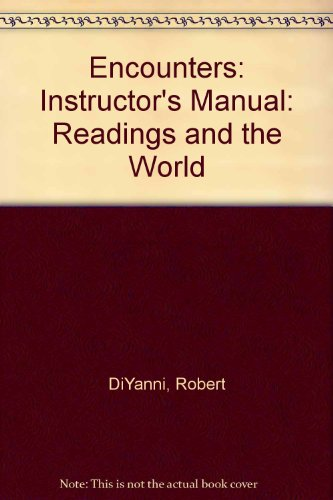 9780070306400: Encounters: Instructor's Manual: Readings and the World