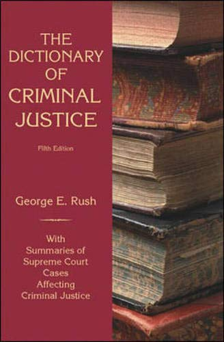 9780070307094: Dictionary of Criminal Justice