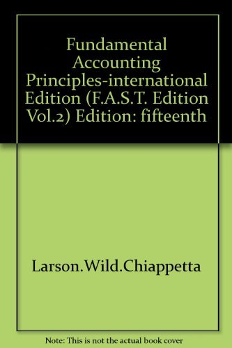 9780070307230: Fundamental Accounting Principles-international Edition (F.A.S.T. Edition, Vol.2)