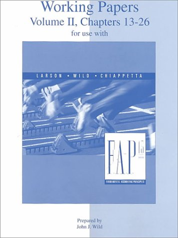 9780070307384: Working Papers Volume 2