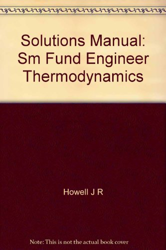 9780070307520: Solutions Manual: Sm Fund Engineer Thermodynamics