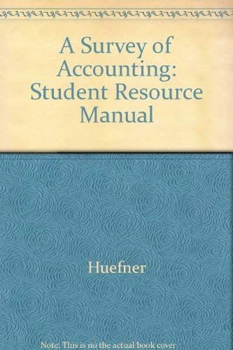 9780070308244: A Survey of Accounting: Student Resource Manual