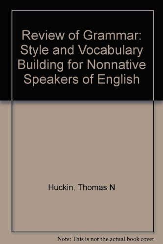 9780070308565: Review of Grammar: Style and Vocabulary Building for Nonnative Speakers of English