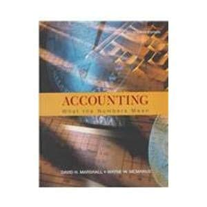 9780070310827: Accounting: What the Numbers Mean