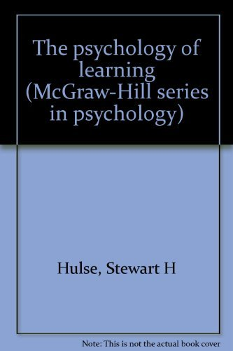 9780070311503: The psychology of learning (McGraw-Hill series in psychology)