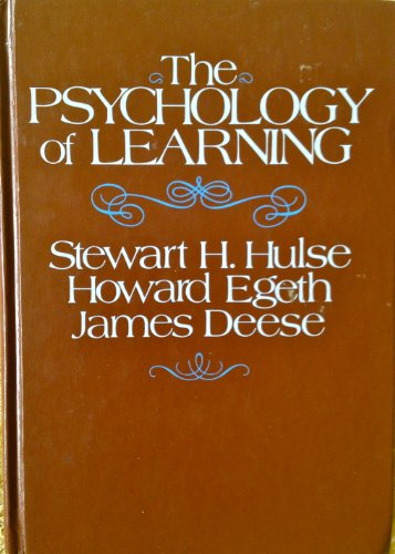 9780070311510: Psychology of Learning