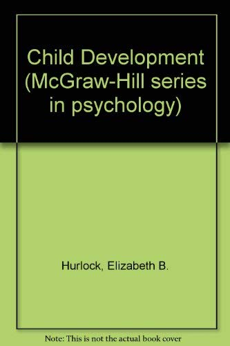 9780070314252: Child Development (McGraw-Hill series in psychology)