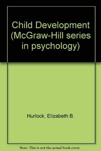 9780070314252: Child Development (McGraw-Hill series in psychology)