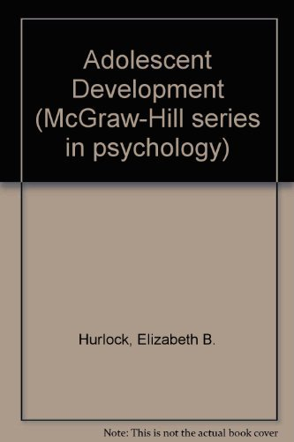 9780070314573: Adolescent Development (McGraw-Hill series in psychology)
