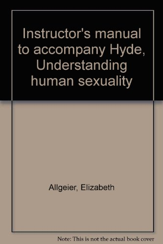 9780070315594: Instructor's manual to accompany Hyde, Understanding human sexuality