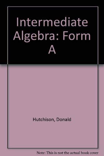 9780070317192: Intermediate Algebra, Form A