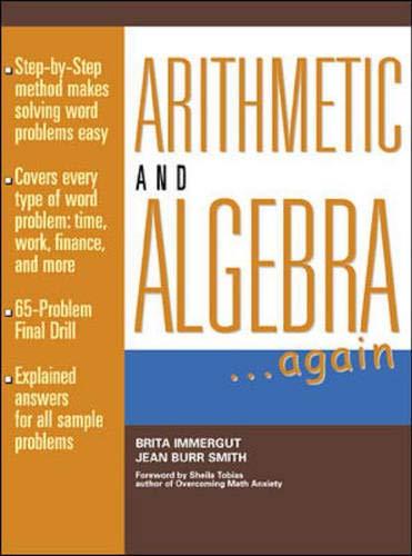 9780070317208: Arithmetic and Algebra Again (Schaum's Paperbacks)