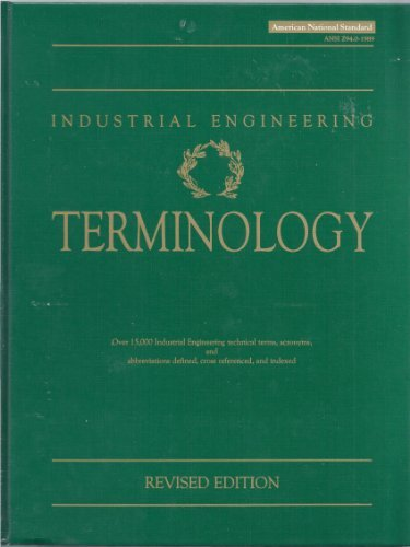 Industrial Engineering Terminology: Revised Edition: Williams, Robert L.,