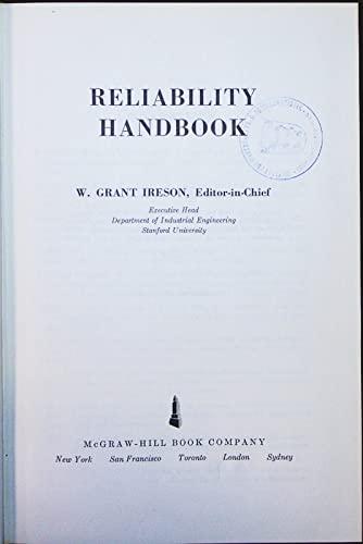 9780070320406: Reliability Handbook