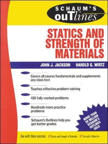9780070321212: Schaum's Outline of Statics and Strength of Materials (Schaum's)