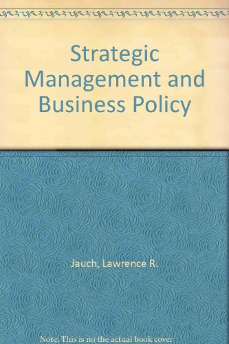 9780070323407: Strategic Management and Business Policy