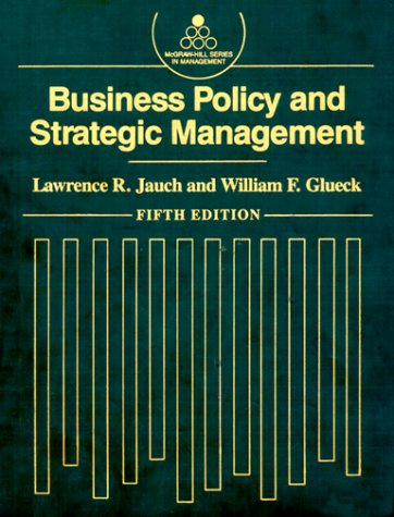 9780070323476: Business Policy and Strategic Management (Mcgraw Hill Series in Management)