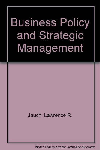 9780070323483: Business Policy and Strategic Management