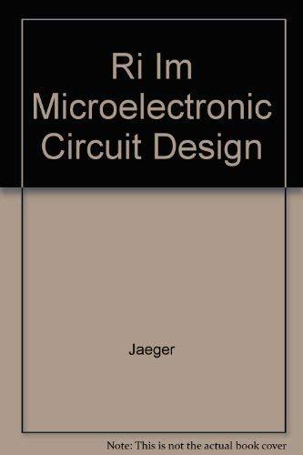 9780070324831: Ri Im Microelectronic Circuit Design