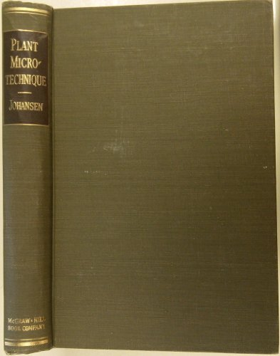 9780070325401: Plant Microtechnique (Bot.Science Publications)