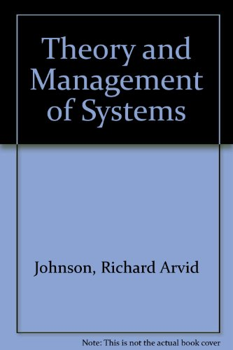 9780070326293: The Theory and Management of Systems 2nd Edition