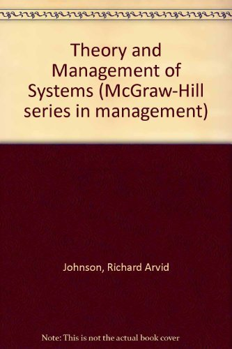 9780070326347: Theory and Management of Systems (McGraw-Hill series in management)