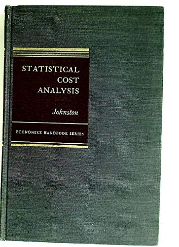 9780070326750: Statistical Cost Analysis (Economic Handbooks)