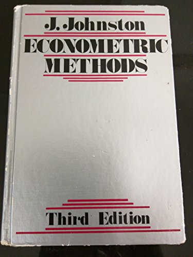 9780070326798: Econometric Methods