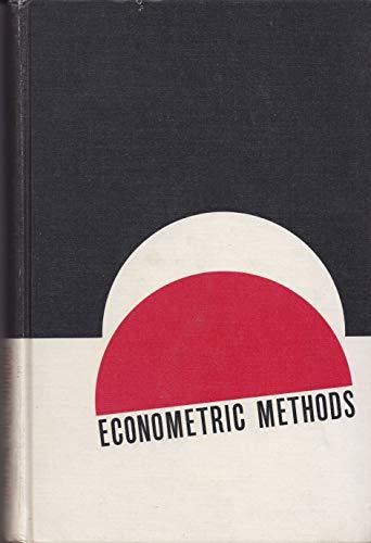 Econometric Methods.: Johnston, J