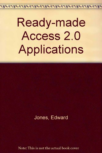 9780070327740: Ready-Made Access 2.0 Applications