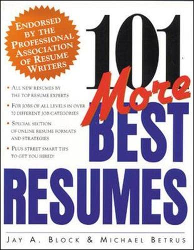 9780070329690: 101 More Best Resumes