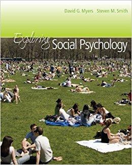 Exploring Social Psychology + CONNECT,Third Canadian Edition: Myers, David G.;