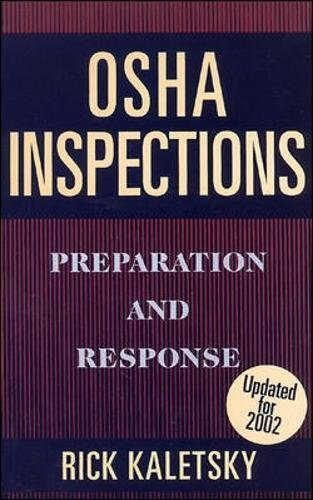 9780070331600: OSHA Inspections: Preparation and Response