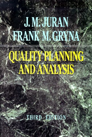 9780070331839: Quality Planning and Analysis: From Product Development Through Use (Mcgraw-Hill Series in Industrial Engineering and Management Science)