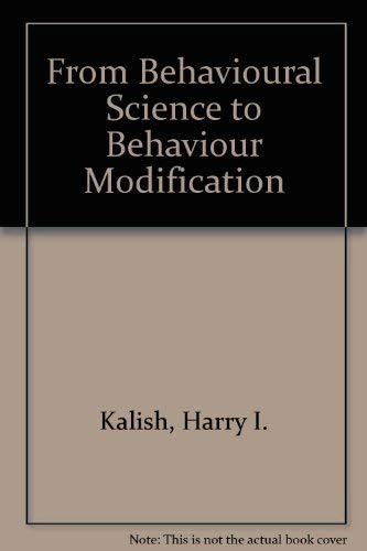 9780070332454: From Behavioural Science to Behaviour Modification